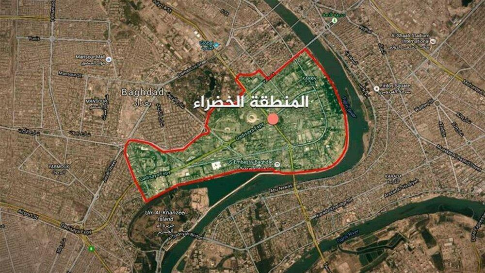 حمله موشکی در نزدیکی سفارت آمریکا در بغداد